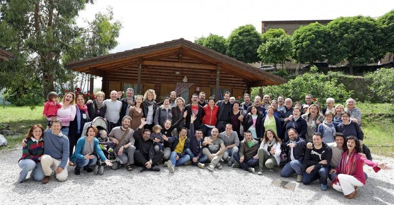 2015: Chiara Amirante con il consiglio centrale a Piglio (FR)