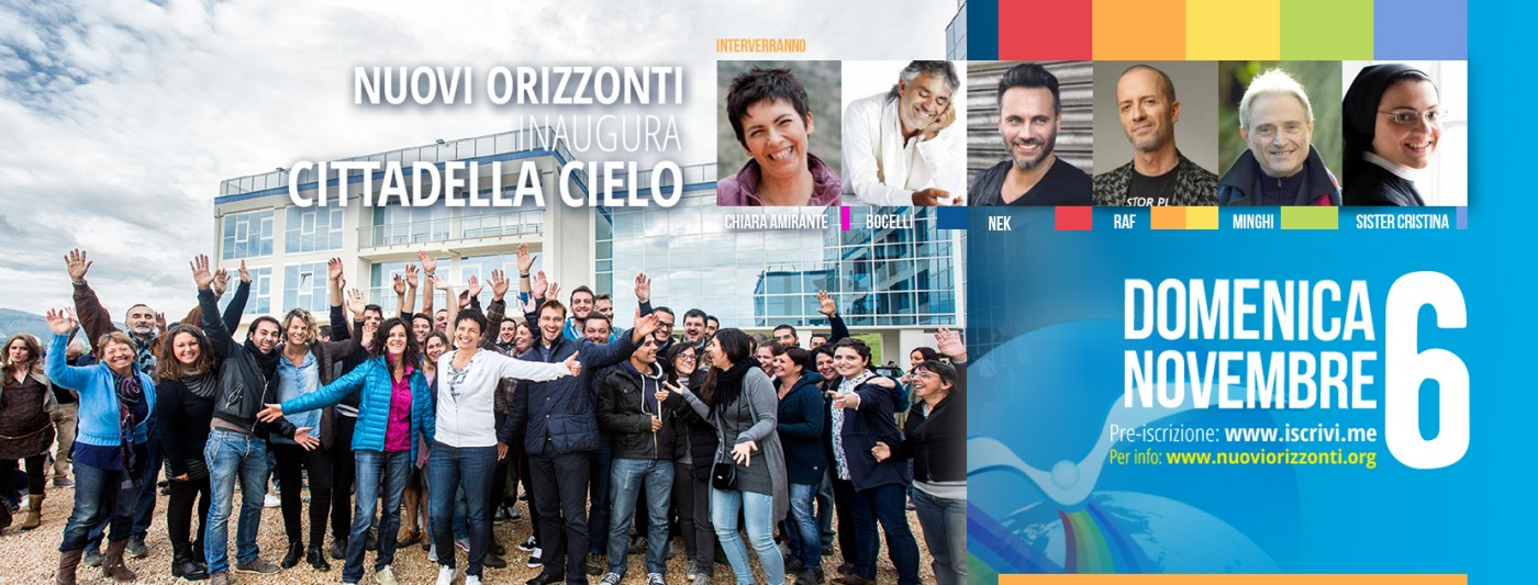 Inaugurazione Cittadella Cielo Frosinone - Nuovi Orizzonti
