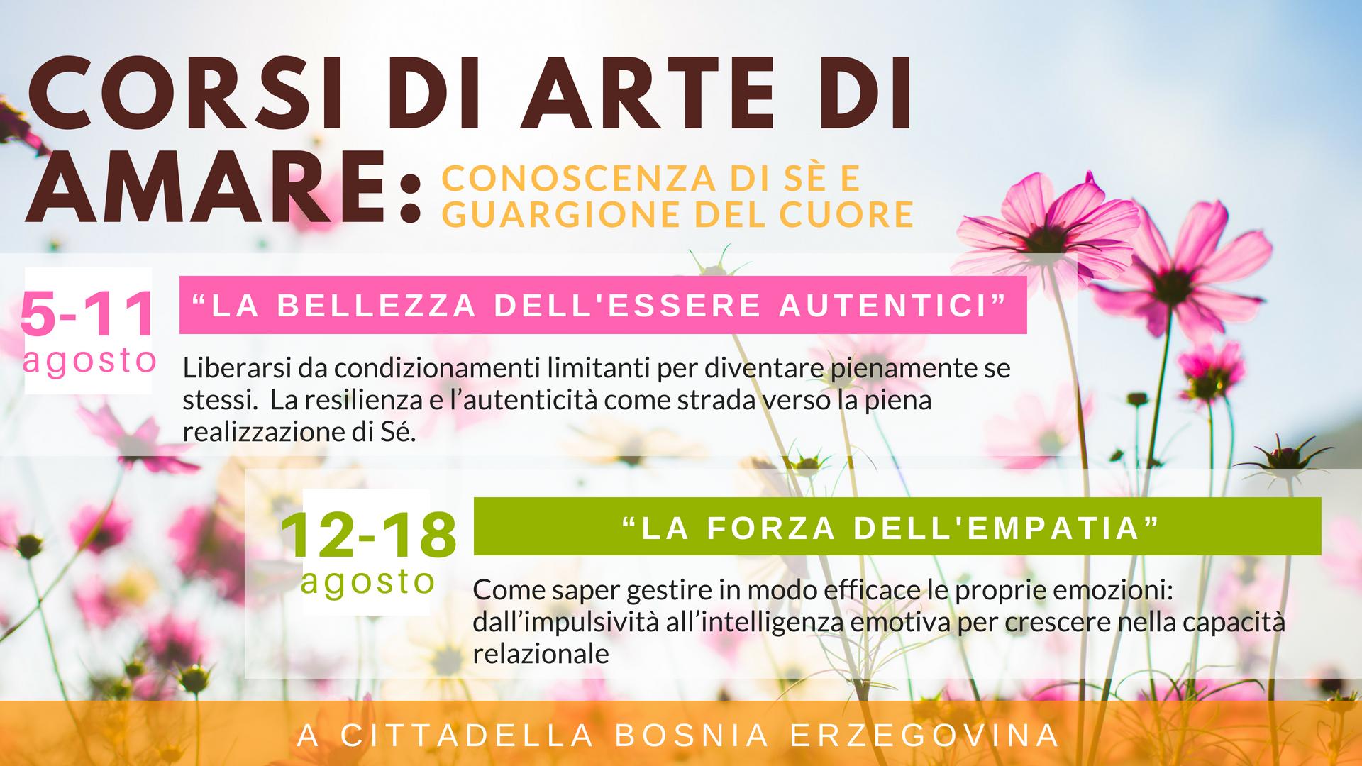 Arte di Amare Estate 2018 - Nuovi Orizzonti