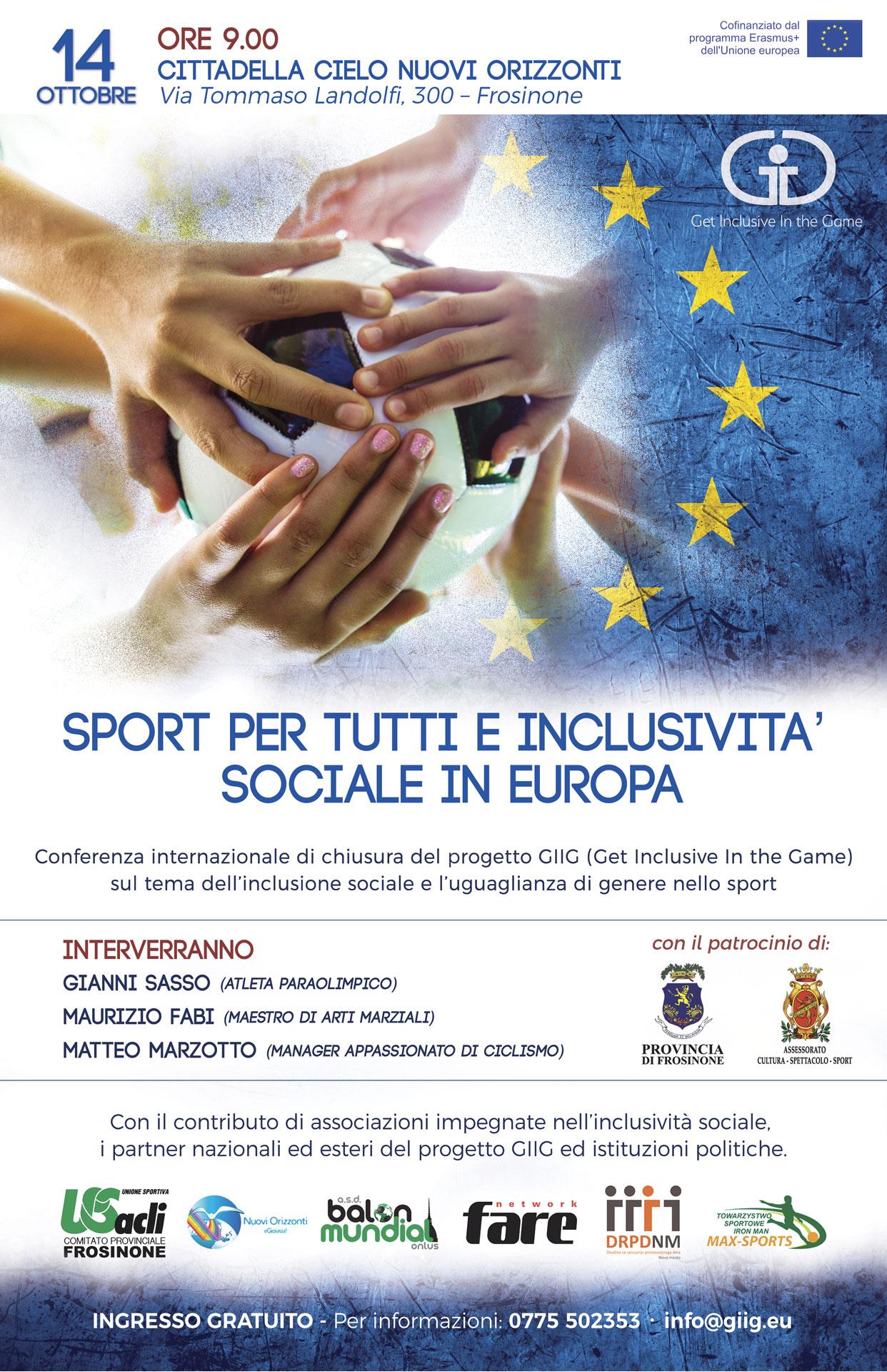 Sport per tutti e incisività sociale - Nuovi Orizzonti