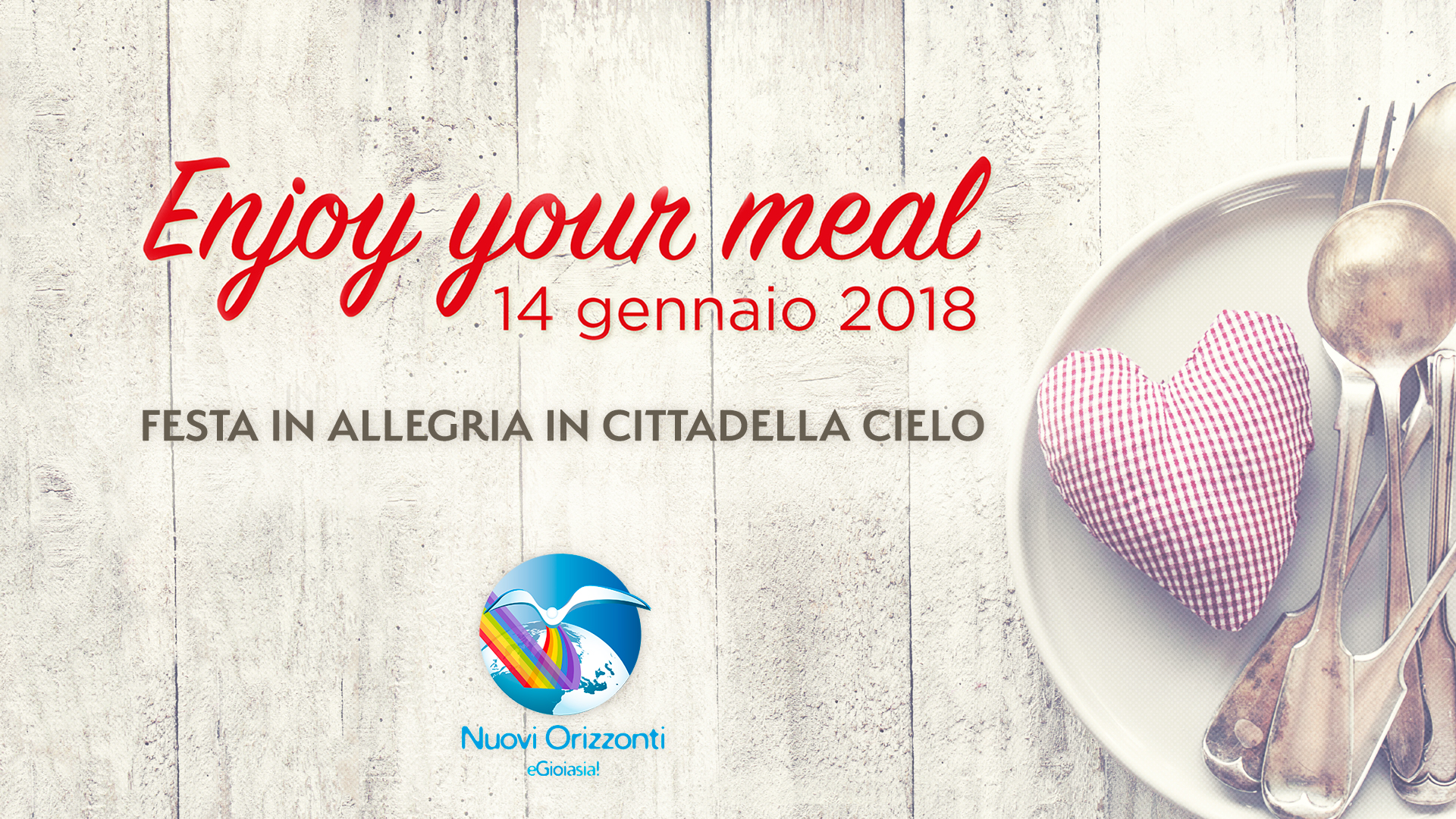Enjoy Your Meal ・Festa e Condivisione