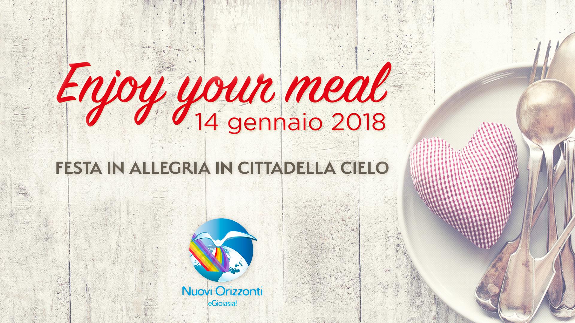 Enjoy Your Meal ・Festa e Condivisione