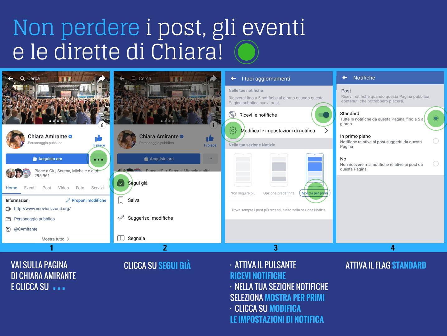 Istruzioni pagina Facebook - Nuovi Orizzonti