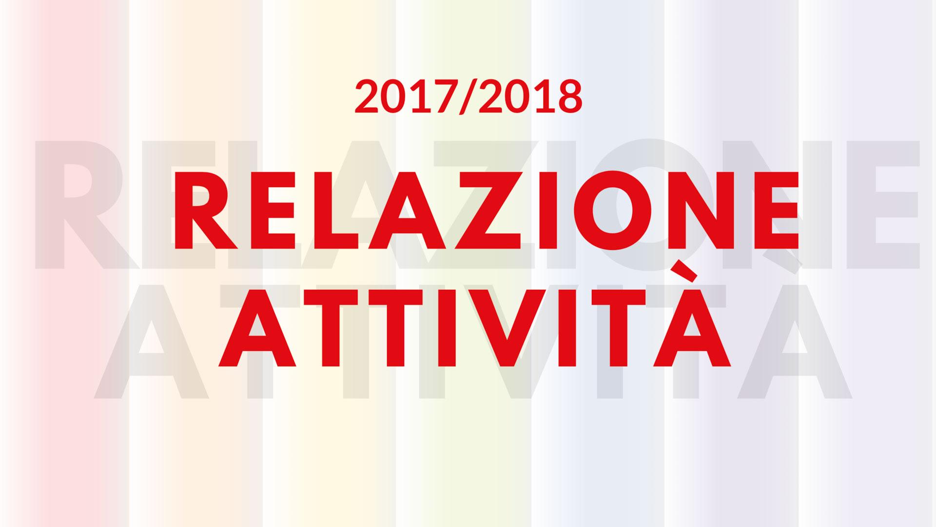 Relazione Attività 2017-2018 - Nuovi Orizzonti