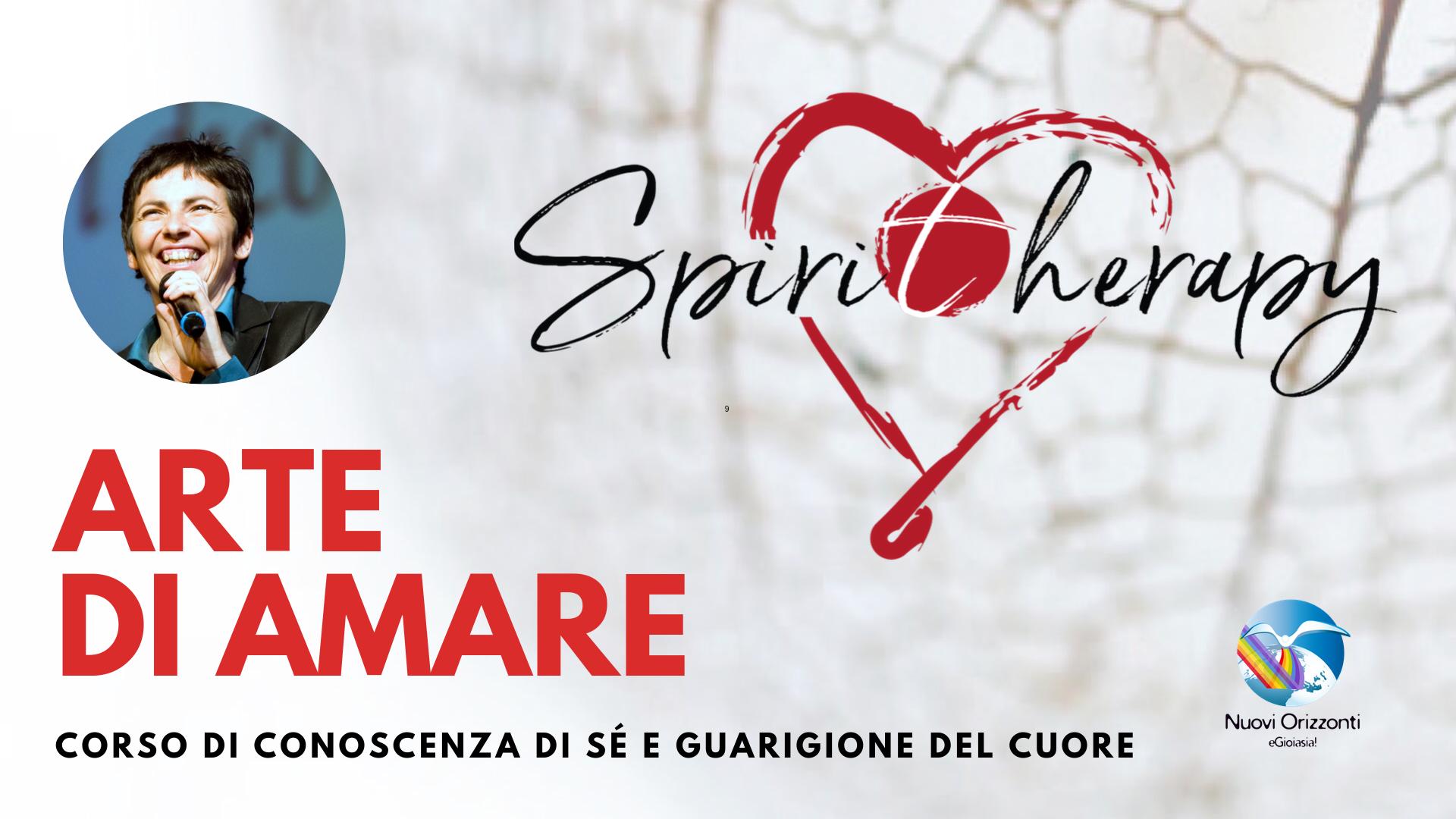 Chiara Amirante - Logo Spiritherapy - Cuore - Logo Nuovi Orizzonti - Sullo sfondo alchechengi