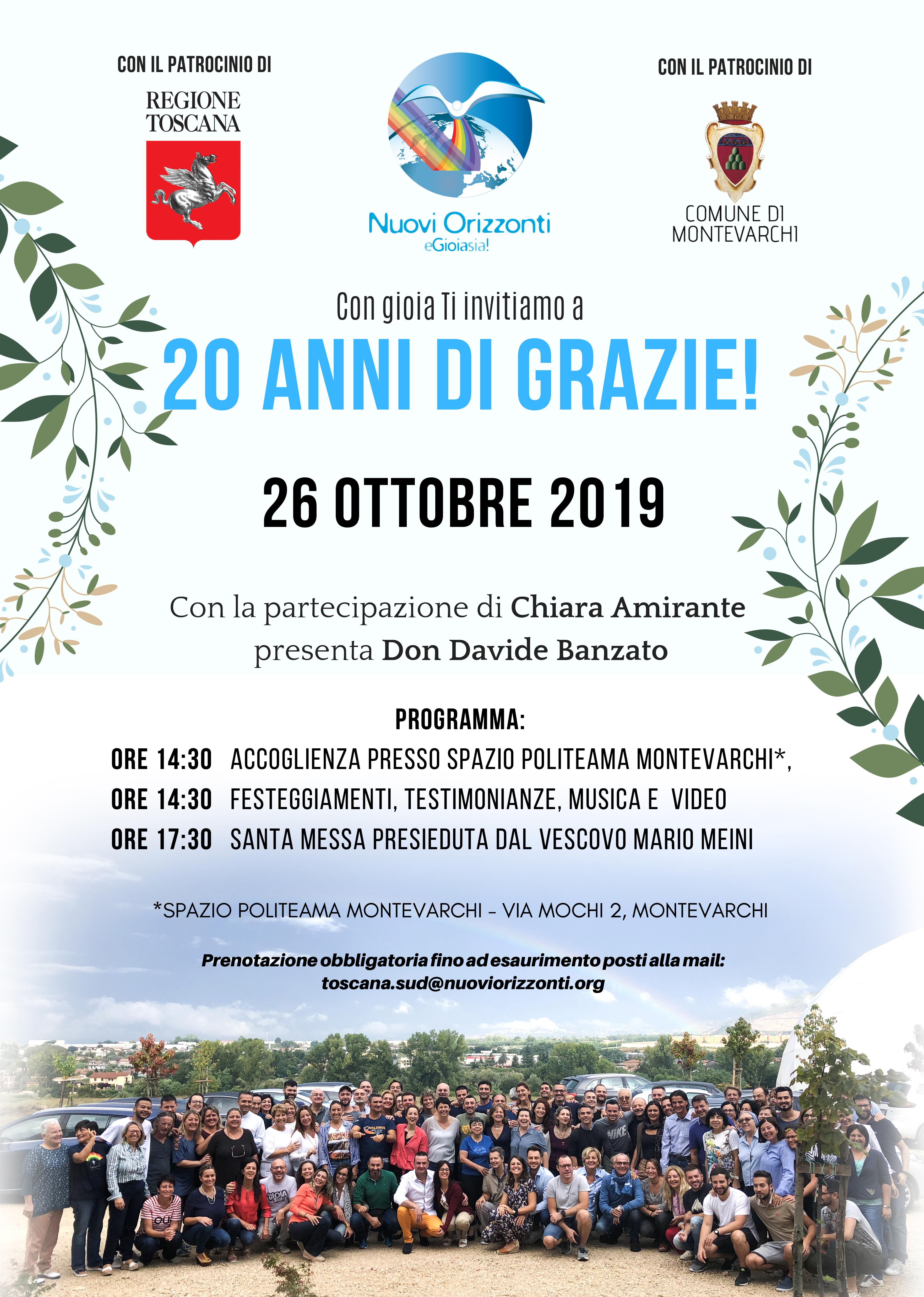 20 Anni Montevarchi - Nuovi Orizzonti
