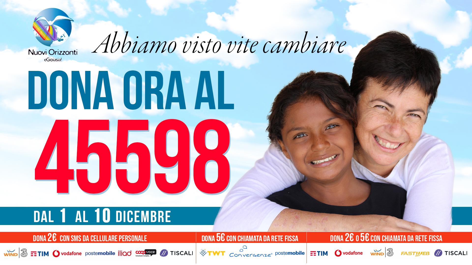 45598 SMS solidale - Nuovi Orizzonti